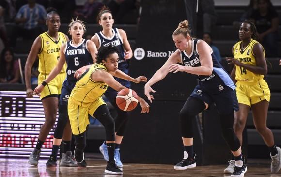 Cuatro jugadoras antioqueñas hacen parte de la Selección Colombia de baloncesto que disputa el Preolímpico en Argentina. FOTO CORTESÍA FIBA