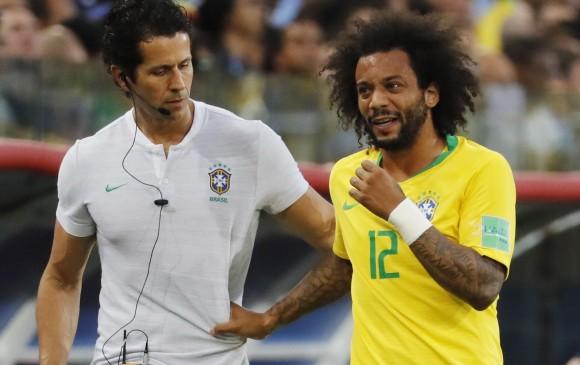 Marcelo, capitán de la selección de Brasil. FOTO EFE