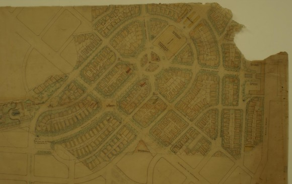 Plano del barrio Laureles1943 Sala de la tertulia, Casa Patrimonial
