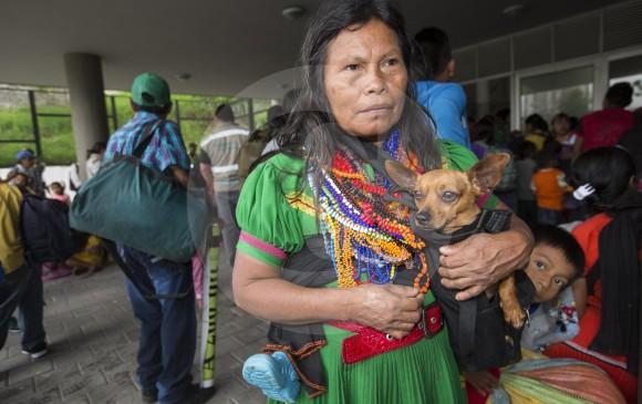 La población indígena que se asienta en el casco urbano de Medellín alcanza las 3.500 personas. FOTO Manuel saldarriaga