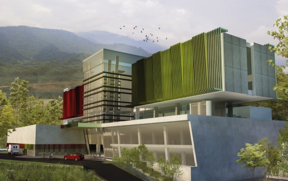 Imagen representativa del proyecto del hospital, que puede estar sujeta a cambios frente al diseño definitivo. FOTO cortesía viva