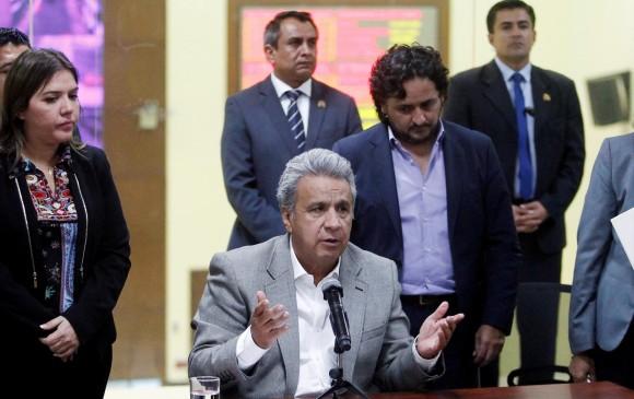 Lenin Moreno,presidente de Ecuador, confirmó la muerte del equipo periodístico. FOTO: REUTERS
