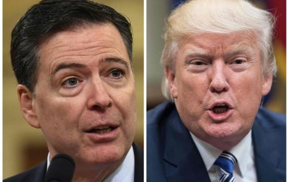 El director del FBI, James Comey, y el presidente de los Estados Unidos, Donald Trump vuelven a cruzar declaraciones. FOTO: AFP