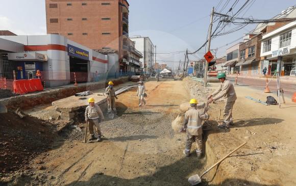 Las obras en ejecución van desde el sector de San Marcos hasta el Parque del Inder. FOTO MANUEL SALDARRIAGA