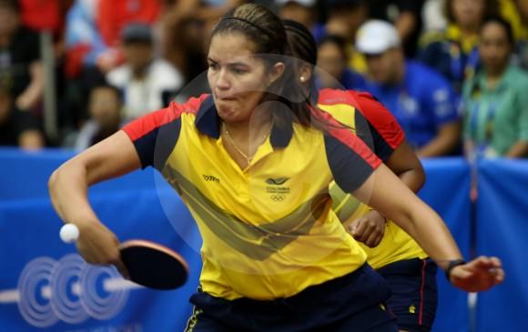 Luisa Zuluaga, una de las mejores raquetas del país. Ayer estuvo en el título de Valle por equipos.