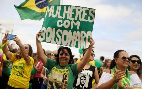 Manifestaciones a favor de Jair Bolsonaro en Brasil. FOTO: REUTERS