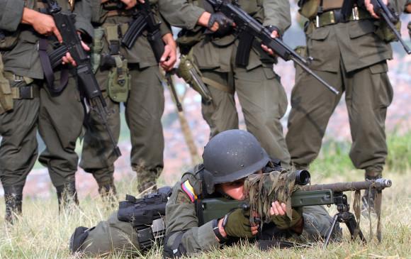 Entrenamiento del grupo antiterrorista de la Policía. Foto: Jaime Pérez