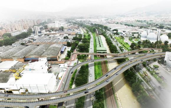 La obra también concibe integrar las rutas de transporte público, buscando que La Ayurá sea el corredor de movilidad transversal en esta zona del Valle de Aburrá. ILUSTRACIÓN ÁREA METROPOLITANA