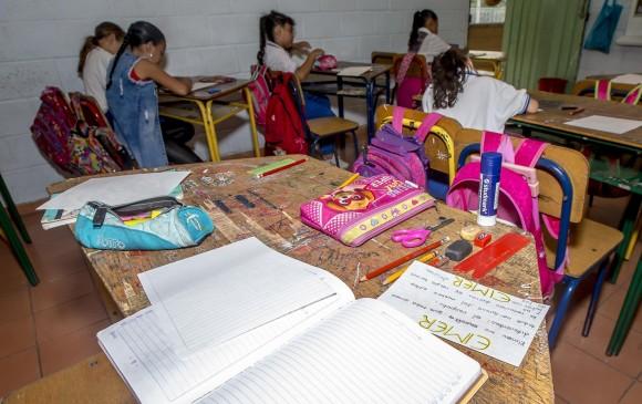 La Gobernación de Antioquia recordó que la educación oficial es gratuita y que es muy importante brindar oportunidades a la niñez. Foto: Juan Antonio Sánchez.