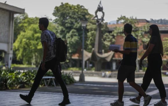 En la Universidad de Antioquia, el semestre 2018-2 terminaría en marzo. FOTO Manuel Saldarriaga