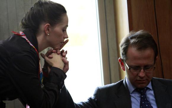 De izquierda a derecha, Catalina Serrano y su esposo el exministro de agricultura, Andrés Felipe Arias. FOTO Archivo Colprensa (07/14/2013)
