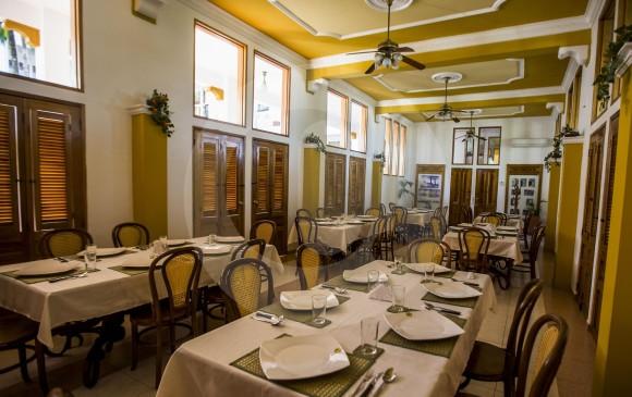 Comedor del Hotel Magdalena, donde se hacían las recepciones de matrimonios y eventos importantes. FOTO JULIO CÉSAR HERRERA