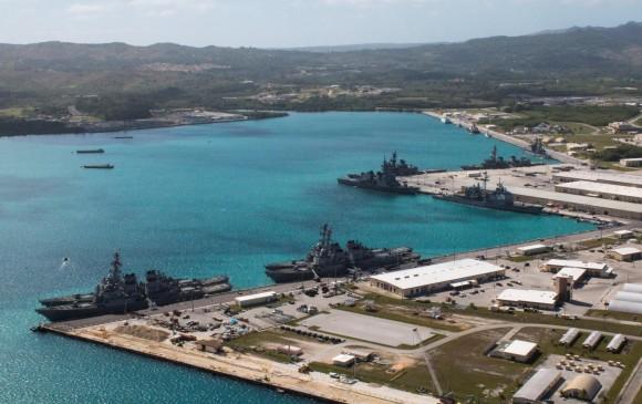 Base naval de Estados Unidos en Guam. FOTO REUTERS