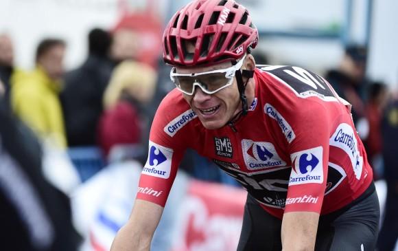 Froome es señalado de dopaje porque superó los niveles permitidos de salbutamol en una muestra tomada en la pasada Vuelta a España. FOTO AFP
