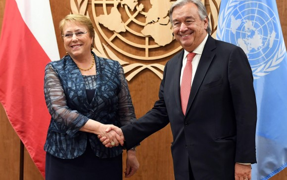 La ONU nombró a Michel Bachelet como alta comisionada para los Derechos Humanos. FOTO: AFP