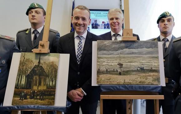 Policía antimafia italiana recupera 2 Van Gogh robados
