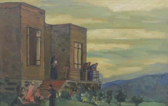 La Casa en la colina de Aranjuezs.f. Sala de la tertulia. Casa patrimonial.