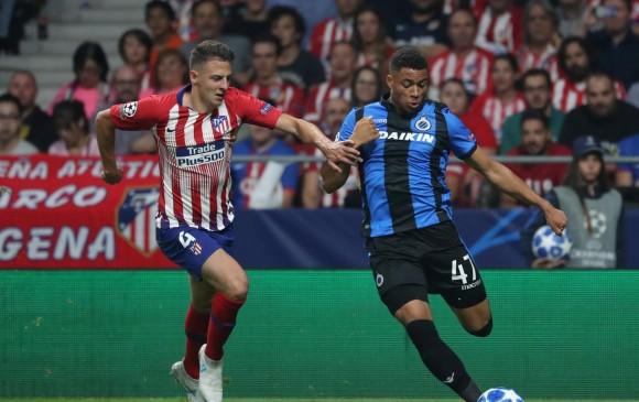 Santiago Arias ajustó 116 minutos con el Atlético de Madrid. Debutó en Champions con el elenco colchonero. FOTO afp