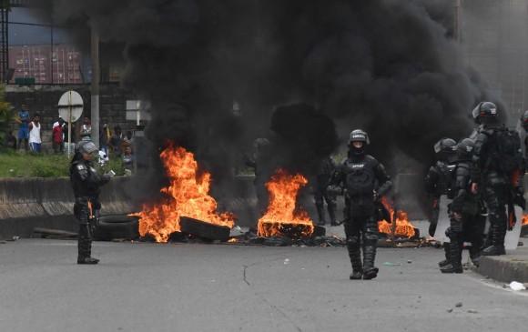 El proyecto del representante a la cámara Víctor Manuel Ortíz que busca penalizar y castigar el vandalismo en las protestas. Foto: Colprensa