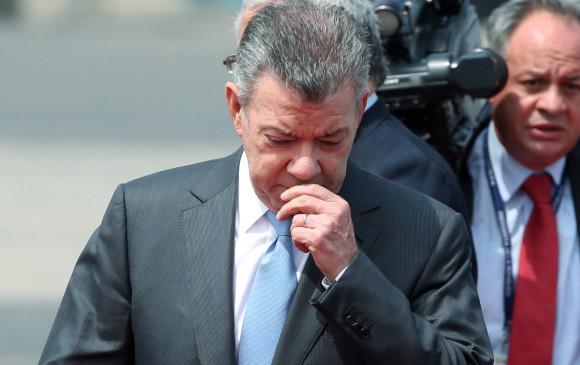 Juan Manuel Santos, presidente colombiano, expresó su apoyo a Ecuador. FOTO REUTERS