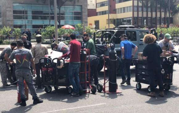 Mark Wahlberg está encantando filmando en Bogotá