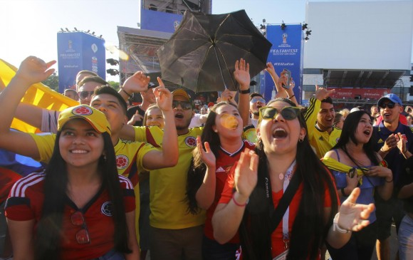 Los hinchas colombianos ya se encuentran en Rusia viviendo la fiesta del Mundial