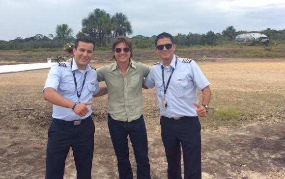 Tom Cruise llegó a Colombia en agosto de este año para grabar escenas de la película Mena en diferentes lugares del país. FOTO Cortesía