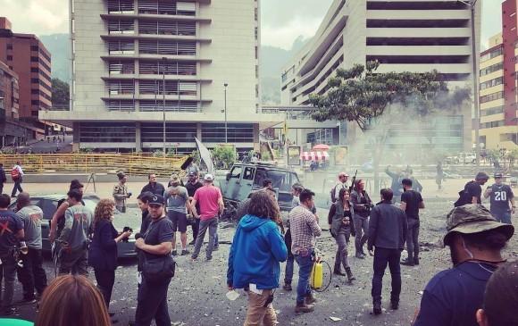 Mark Wahlberg paraliza a Bogotá con estallidos
