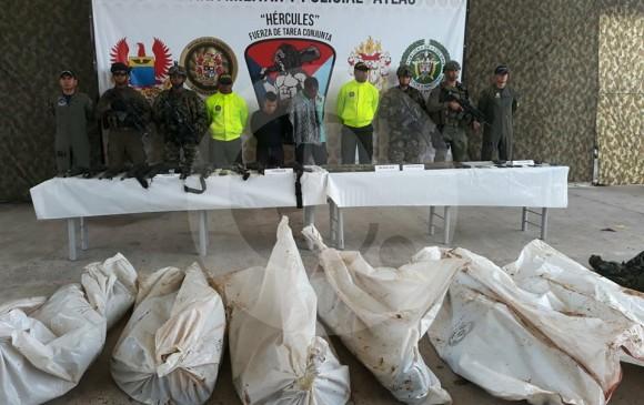 """Seis hombres de la guardia de seguridad de """"Guacho"""" fueron abatidos. FOTO CORTESÍA EJÉRCITO NACIONAL"""