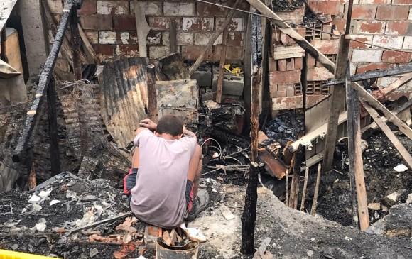 Ocho viviendas fueron arrasadas por las llamas. FOTO JULIO CÉSAR HERRERA