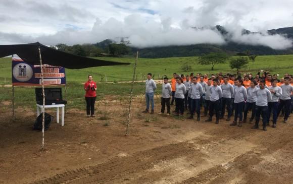 Humanicemos DH, organización civil de desminado humanitario conformada por excombatientes de Farc, desminará tres zonas en Montañita (Caquetá). FOTO: Cortesía Descontamina Colombia