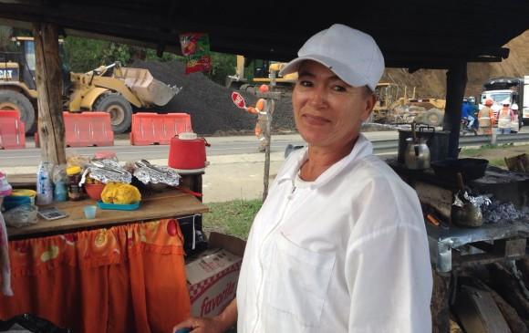 """Blanca Castaño """"La reina de las ventas"""" y sus fritos."""