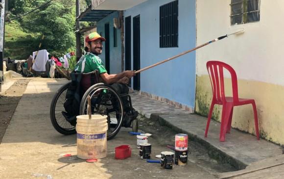 La comunidad en cada municipio se vincula a la actividad y embellece los exteriores de las viviendas. FOTO cortesía VIVA