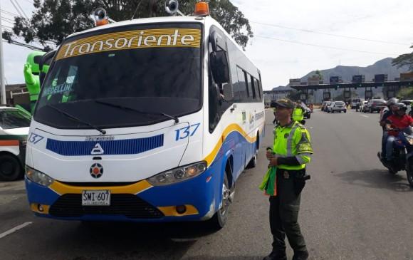 Diversos controles y acompañamiento de los uniformados ha sido clave en esta jornada. FOTO Cortesía Policía Antioquia