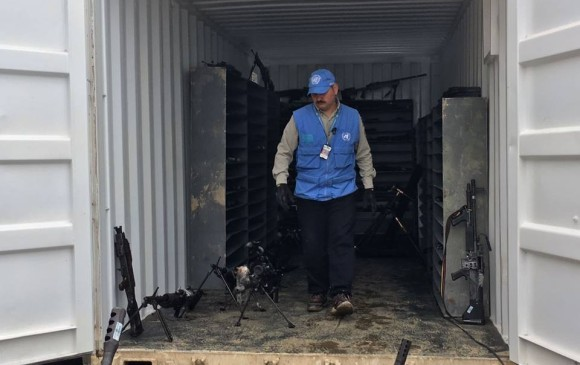 ONU afirma que FARC entregó 304 escondites con armas y faltan 475