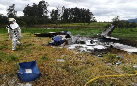 Accidente aéreo en Bogotá, sin heridos