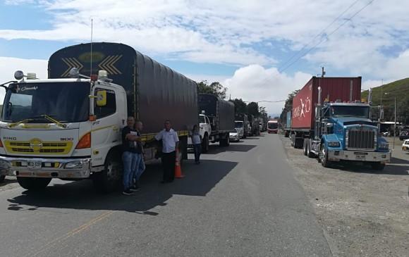 En estos momentos se presenta congestión vehicular. FOTO: Manuel Saldarriaga.