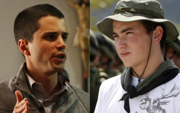 De izquierda a derecha Tomás Uribe y Esteban Santos. Foto. Colprensa