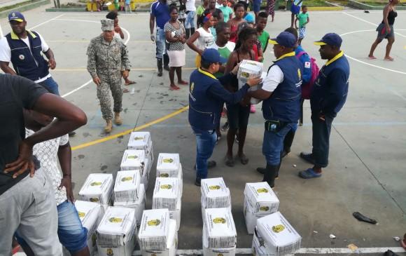 Se entregan 3.500 kit de ayuda humanitaria.