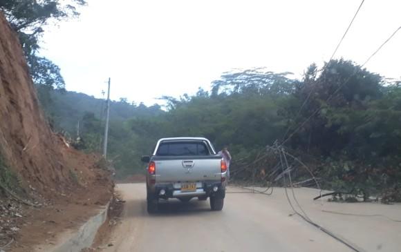 Así está hoy la vía entre Medellín y el Nordeste en el sector de Pradera. FOTO EL COLOMBIANO