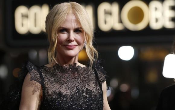 Es el cuarto Globo de Oro para Nicole Kidman, el primero en categorías de televisión. FOTO Reuters