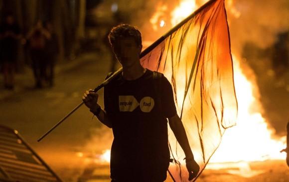 Protestas en Cataluña. FOTO EFE