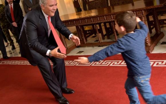 El presidente Duque recibió a Cristo José en la Casa de Nariño. FOTOS CORTESÍA PRESIDENCIA