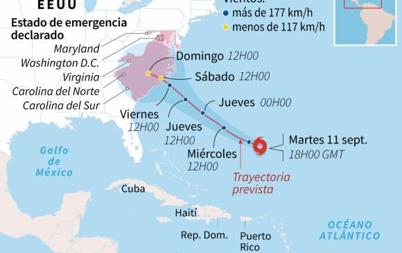 Internacionales: Florence se acerca a costa estadounidense