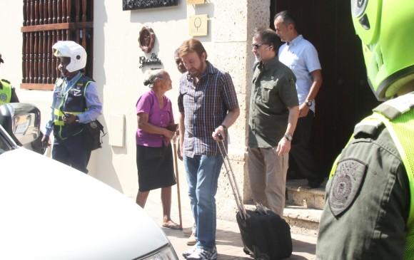 Al actor lo vieron salir del hotel Bastión Luxury Hotel. Foto: El Universal