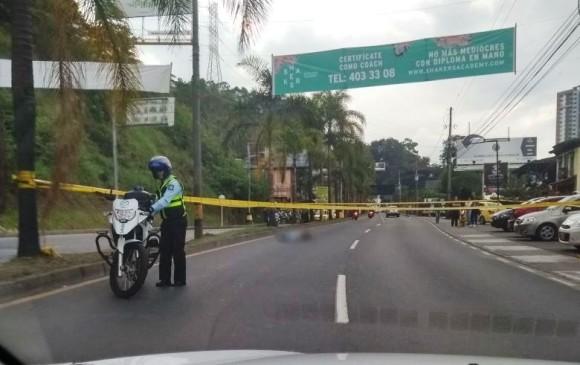 Vía Las Palmas se encuentra cerrada por diligencia judicial