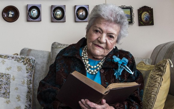 Alicia Giraldo, cumplió 100 años en 2017. Fue historiadora, socióloga y psicóloga.Foto: Julio César Herrera Echeverri