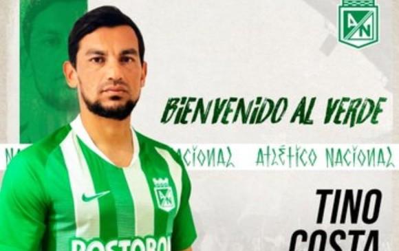 El argentino Tino Costa es nuevo jugador de Atlético Nacional