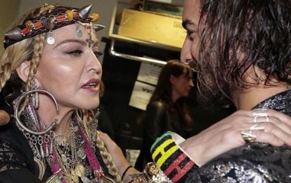 Madonna aparece en estudio junto a Maluma… ¿grabarán dueto?