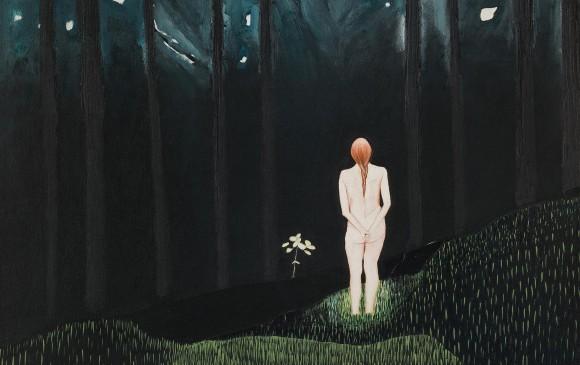 Quiero ver el bosque. Óleo sobre tela. 70 x 70 cm / Colección privada. FOTO CORTESIA Davivienda